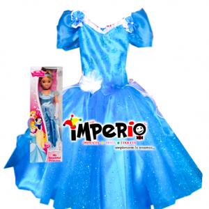 Vestido de la Cenicienta deluxe más muñeca