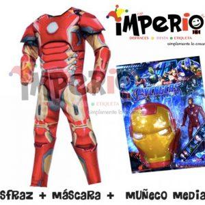 Disfraz de Iron man más juguete